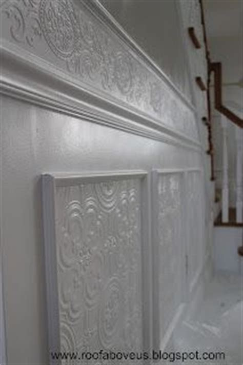 Wallpaper Wainscoting Ideas Using Paintable Textured Wallpaper To Create A Whole New