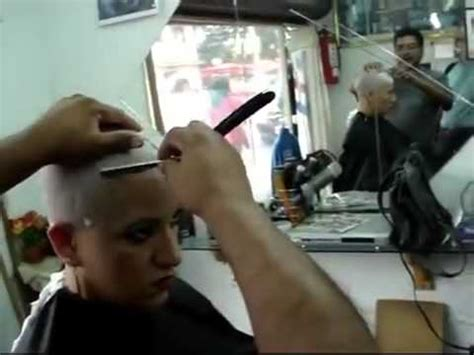 woman shave barber shop barbershop foreigner headshave youtube