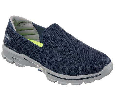 Sepatu Skechers Go Walk 3 Navy Slip On Premium Import Size 37 41 skechers mens go walk 3 slip on walking shoes lightweight