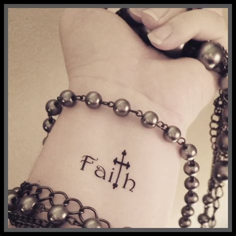fake cross tattoos faith cross temporary religious word