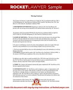 moving contract moving company contract template form