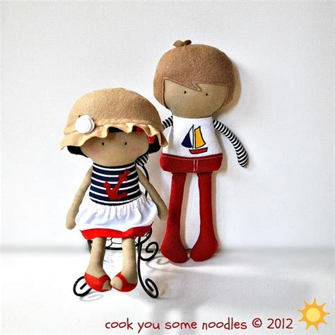Boneka Emotion Line Doll Toys my teeny tiny dolls nautical by cook you some noodles