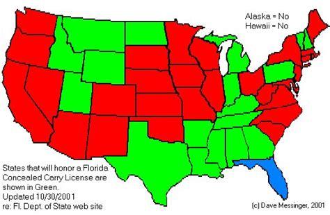florida ccw reciprocity map tudo s firearms home page