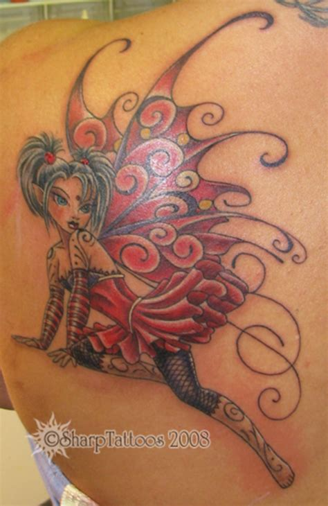 faerie tattoo designs twirly winged faery picture at checkoutmyink