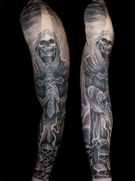 best 25 skull sleeve tattoos ideas on pinterest skull