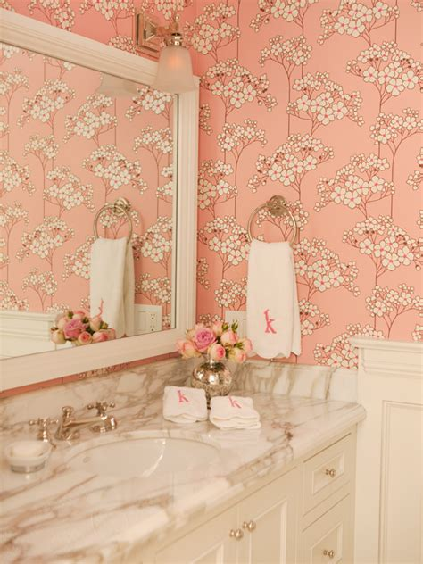 designer bathroom wallpaper pink 5 betterdecoratingbible page 5