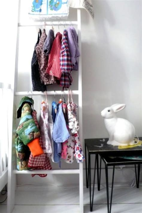 Where To Hang Clothes Without Closet by 14 Ways To Upcycle Ladders Diy Tip Junkie