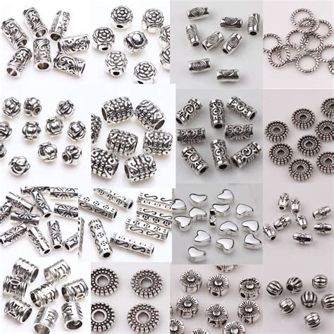 how to make jewelry charms wholesale 50 100pcs silver plated spacer