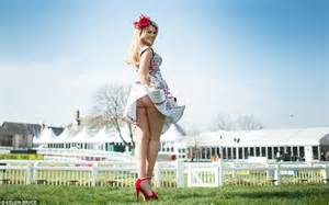 Hit The Floor Dancers - ladies day at grand national 2015 picture special aintree races women glam up in newspaper