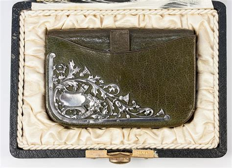 The Ruby Treasure Wallet From Nook by Antique Leather Purse Wallet Sterling Silver