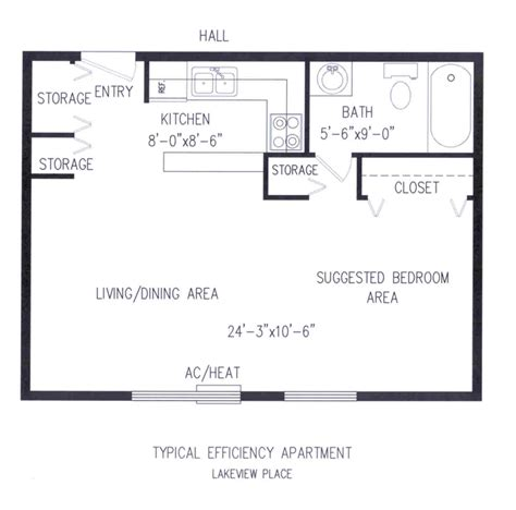 efficient floor plans one bedroom efficiency floor plans house design and
