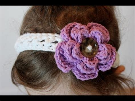 crocheted floral headband 183 how to stitch a knit or crochet cross stitch headband and removable flower all