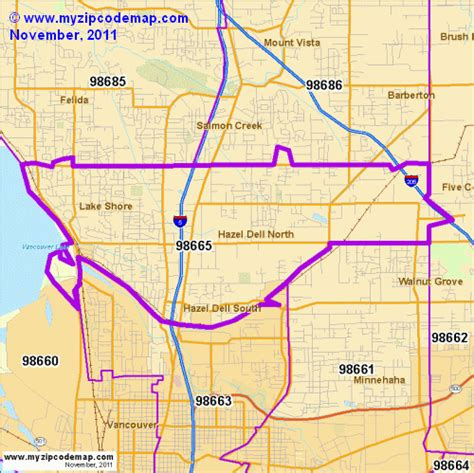 zip code maps vancouver wa zip code map of 98665 demographic profile residential