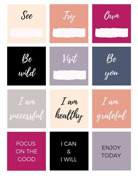 vision board template vision board templates free images free templates ideas