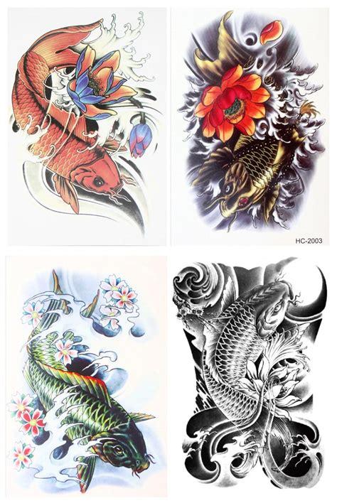 tattoo prices japan 4 pcs set waterproof temporary japanese carp body art