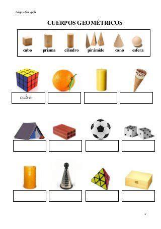 figuras geometricas y sus caracteristicas para niños cuerpos geom 233 tricos identificar carteles pinterest