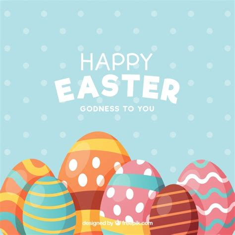 easter images free flat happy easter day background vector free