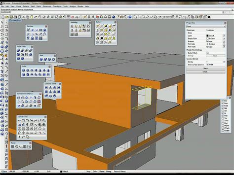 create a house create 3d house part 2 2 make 3d model in rhino youtube