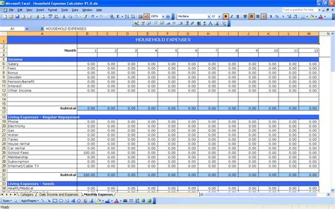daily income and expense excel sheet 2 excel spreadsheet