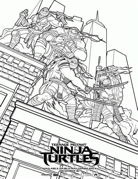 Teenage Mutant Ninja Turtles Movie Coloring Pages | classic ninja turtle coloring pages az coloring pages
