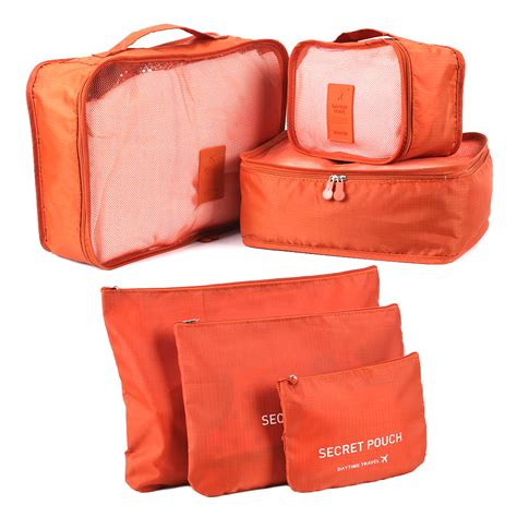 7 In 1 Travel Bag Organizer 6pcs clothes storage bags packing cube travel luggage organizer 7color ebay