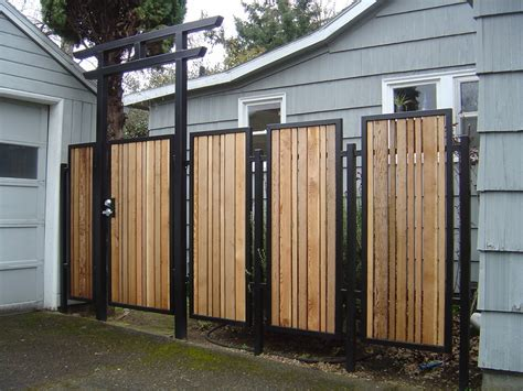 metal backyard gates backyard fence ideas to keep your backyard privacy and