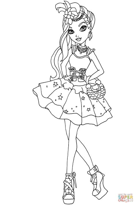 ever after high coloring pages pdf ever after high duchess swan coloring page free