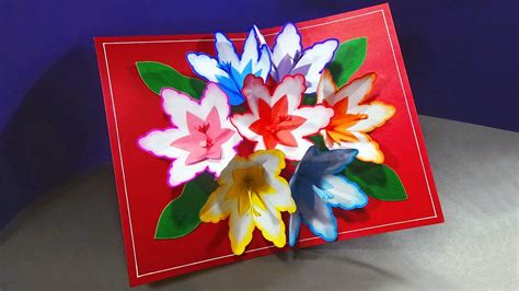 how to make a 3d flower pop up greeting card how to make a 3d flower pop up card