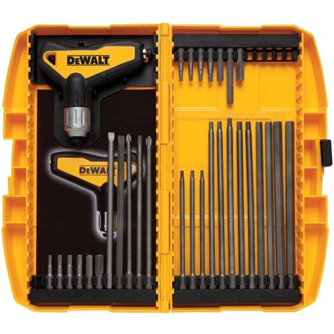 Home Window Decor by Dewalt Ratcheting T Handle Set 31 Piece Dwht70265 The