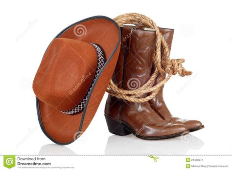 legend boats hat cowboy boots hat and lasso stock image image 21450071