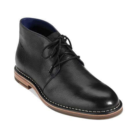 cole haan s boots cole haan glenn chukka boots in black for lyst