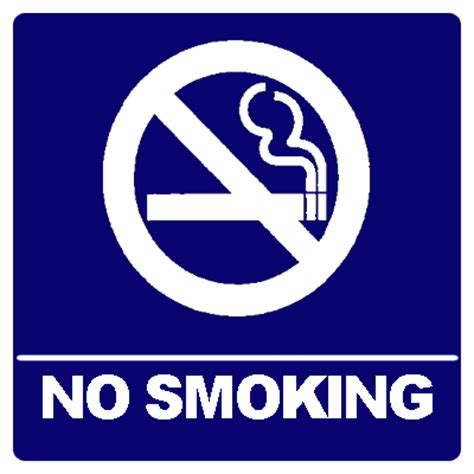 no smoking sign blue verba volant scripta manent