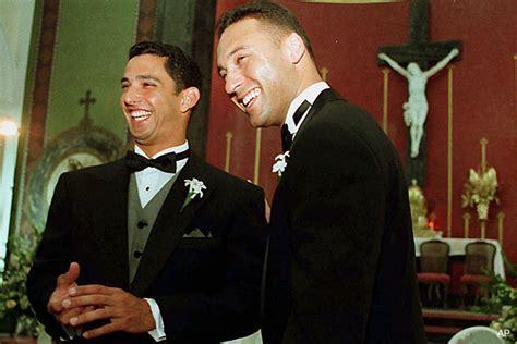 Photo: Derek Jeter as the best man at Jorge Posada?s