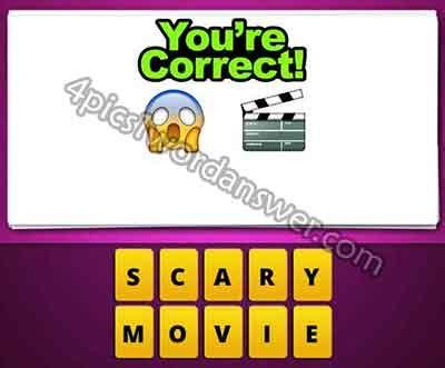 shock film emoji guess the emoji scared face and movie clapper board 4