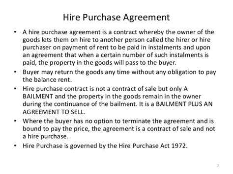 hire purchase template sale of goods act 1930