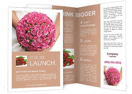Wedding Brochure Bouquets by Wedding Bouquet Brochure Template Design Id 0000010939