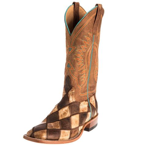 Mens Patchwork Boots - shop s power patchwork cowboy boots