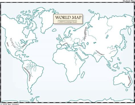 World Outline Map For Printing by Unlabeled World Map Education High School And Middle School Geography
