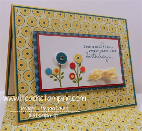 stin up cards to make bright and easy birthday card with one in a million from