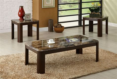 vernon marble top coffee table set