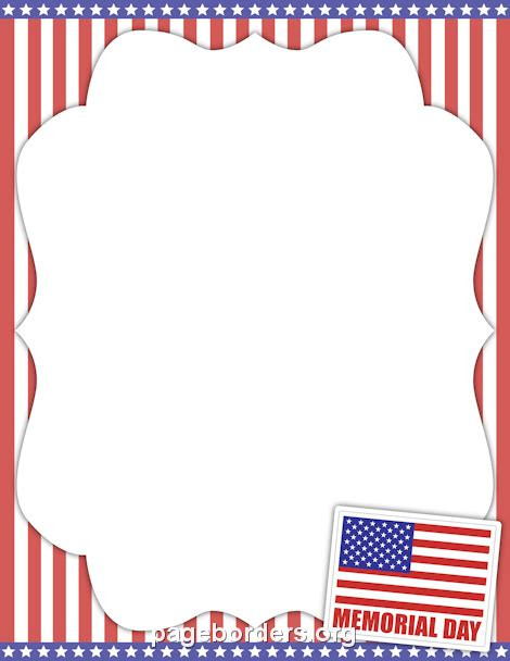 memorial day clipart memorial day border clip 68