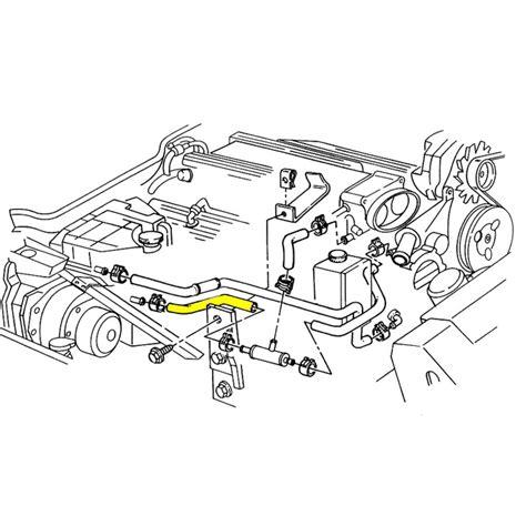 lt1 radiator hose diagram 1993 1994 corvette lower coolant surge tank to