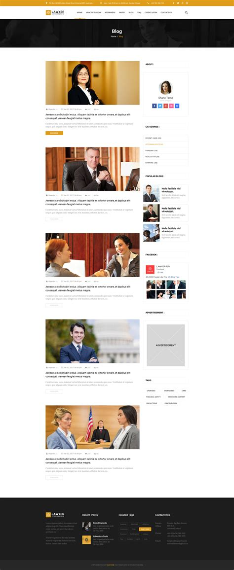 blogger templates for lawyers lawyer psd template by limradesigns themeforest