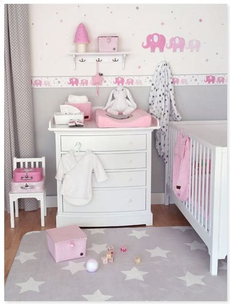 babyzimmer grau rosa on