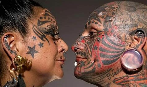 tattoo body modification gabriela and victor peralta scoop guinness world record