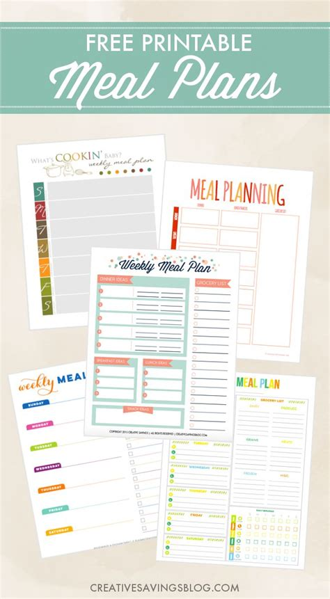 free printable meal planning ideas 25 best ideas about meal planning printable on pinterest