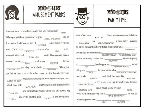 printable road trip mad libs mad libs 1 jpg 3 300 215 2 550 pixels speech pinterest