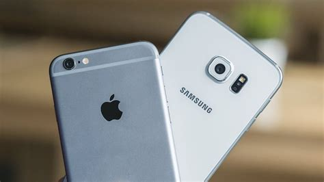 iphone 6s plus vs samsung galaxy s6 edge comparison supersized flagships go to