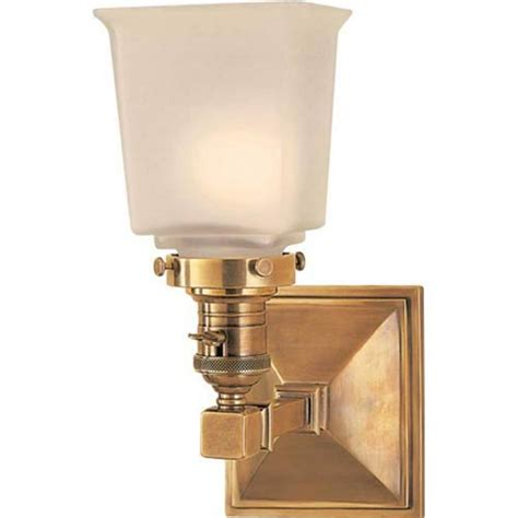 Lighting Fixtures Boston Visual Comfort And Company Antique Brass Boston Square One Light Fixture On Sale