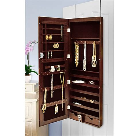 new view over the door mirrored jewelry armoire